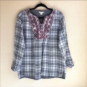 Westbound Plaid Blouse